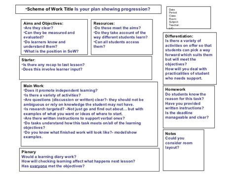 lesson plan template ofsted what makes an outstanding lesson