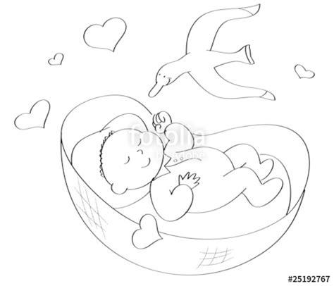 bambino nella culla quot neonato nella culla da colorare quot immagini e fotografie