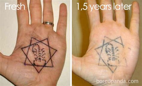 finger tattoo after years are you planning for a tattoo these pics expose how