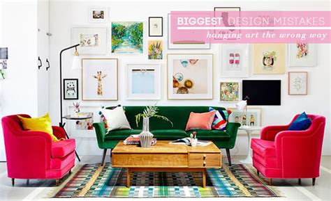 how high to hang pictures on wall how to hang art correctly emily henderson