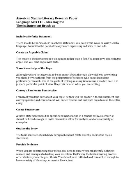 Research Essay Thesis by Thesis Statement Builder For Research Paper