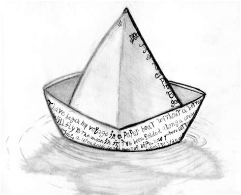 how to draw a boat on paper paper boat by iconicthejam on deviantart