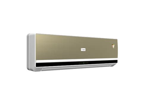champagne gold wall split ac 3d model 3ds max files free