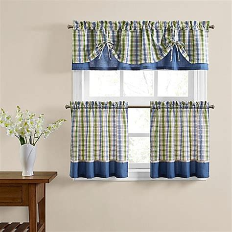 bed bath and beyond kitchen curtains risa window curtain tier pair and valance bed bath beyond