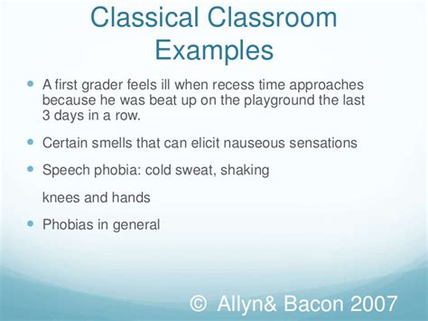 exle of classical conditioning classical conditioning