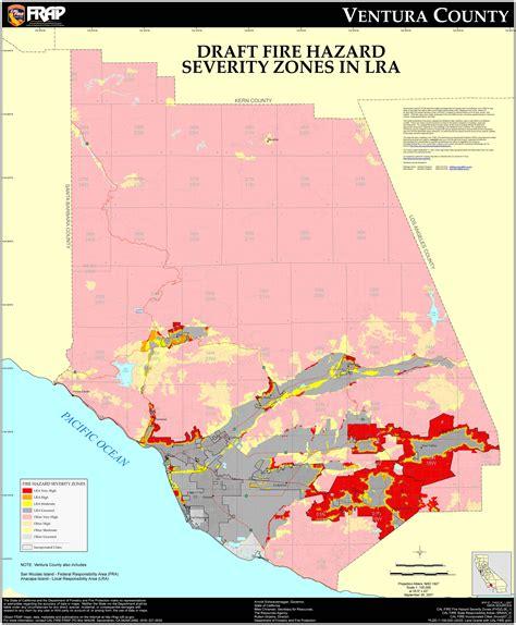 Records Ventura County Cal Ventura County Fhsz Map