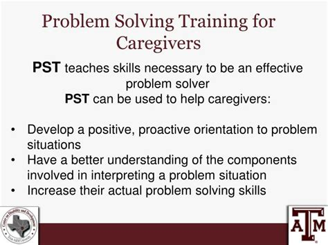 ppt problem solving effects on family caregivers and care recipients powerpoint