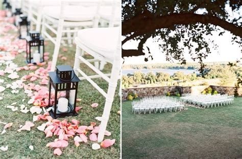 Wedding Aisle Decorations Outdoors by Collina A Blush Outdoor Wedding A Chair Affair Inc