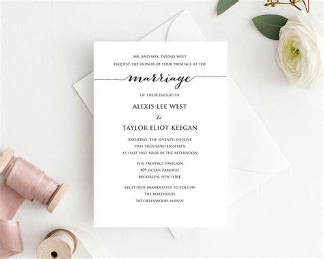 4x6 wedding invitation template wedding invitation template printable 183 wedding templates