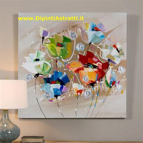 quadri moderni fiori quadro astratto fiori colorati dipintiastratti