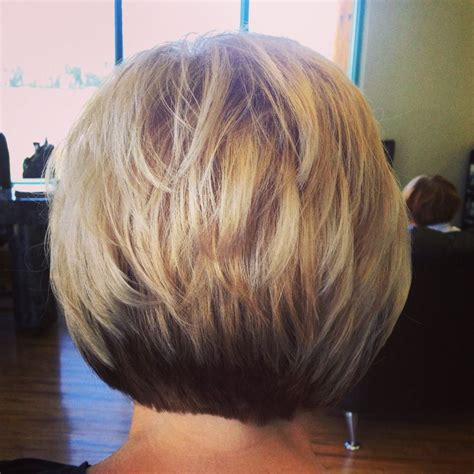 back view of paula s short layers on long hair hair by a line haircut kellie s work pinterest a line a
