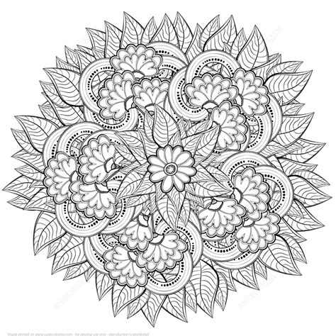 design flower coloring page abstract flowers design zentangle coloring page art