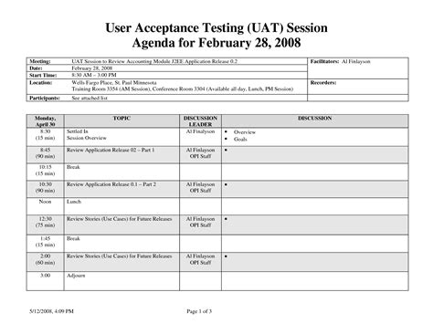User Acceptance Testing Template uat testing template best business template