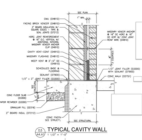brick wall section detail cmu wall section details quotes