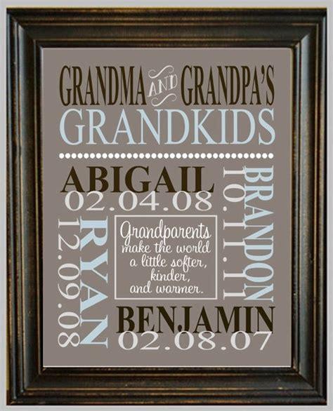 personalized grandparent print with grandchildren s