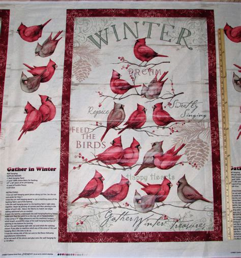 Best Quilt For Winter by Winter Cardinal Bird Door Wall Hanging Fabric