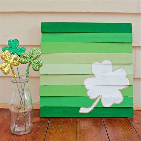wooden st s day crafts easy wood shim pallet for st s day