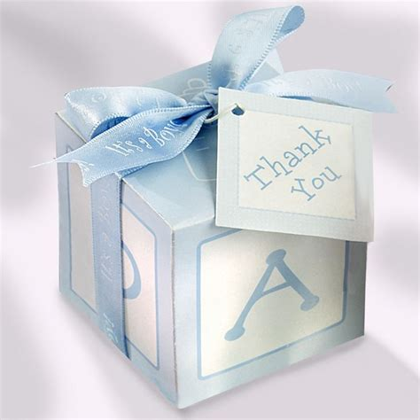 Favor Boxes Dc Nearlyweds by Baby Shower Gift Card Box Blue Baby Blocks Favor Boxes