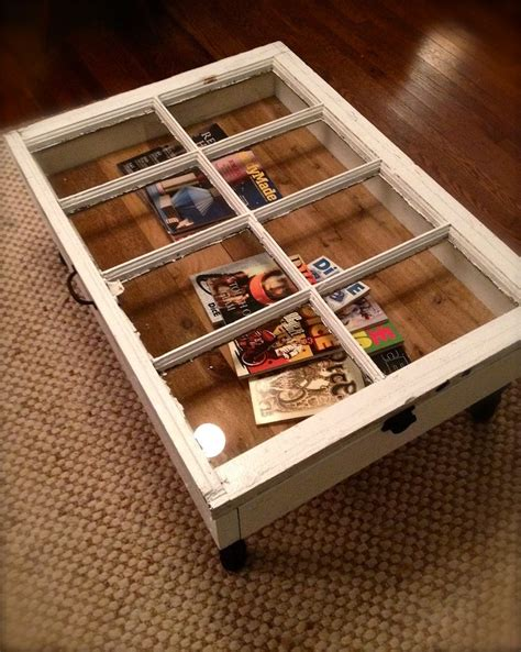 coffee table made from window repurposed reclaimed windows open new decor