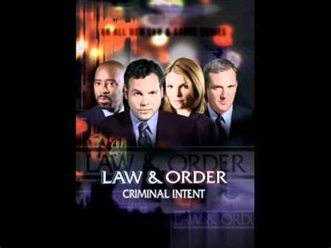 theme music law and order law order criminal intent
