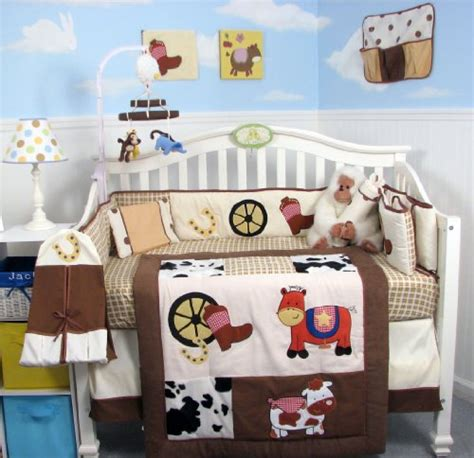 Cowboy Baby Bedding Sets Soho Cowboy Blues Baby Crib Nursery Bedding Set 14 Pcs Included Bag With Ebay