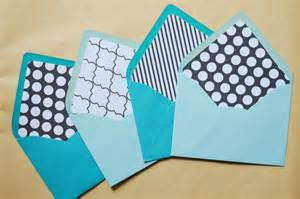 What Is Diy diy envelope liners a touch of teal