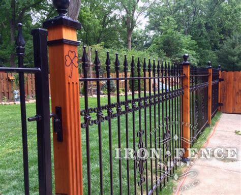 Decorative Fence Post by Iron Aluminum Fence Photo Gallery Iron Fence Shop