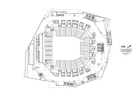 arena floor plan perth arena arm architecture ccn archdaily