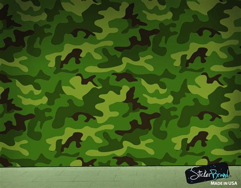 woodland green military combat camo camouflage wall mural
