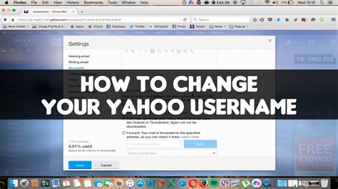 yahoo email username how to change your yahoo username or email address video
