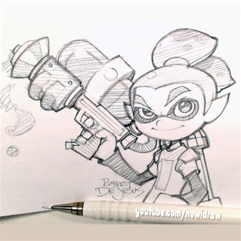 Splatoon 2 Sketches by Robert Dejesus