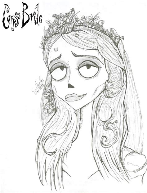 The Corpse Bride By Riku Gurl On Deviantart Corpse Coloring For Pages Print