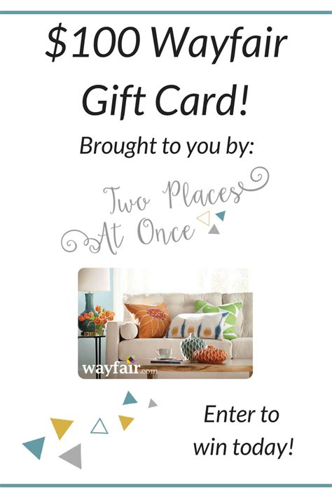 Wayfair Giveaway - wayfair gift card giveaway two places at once
