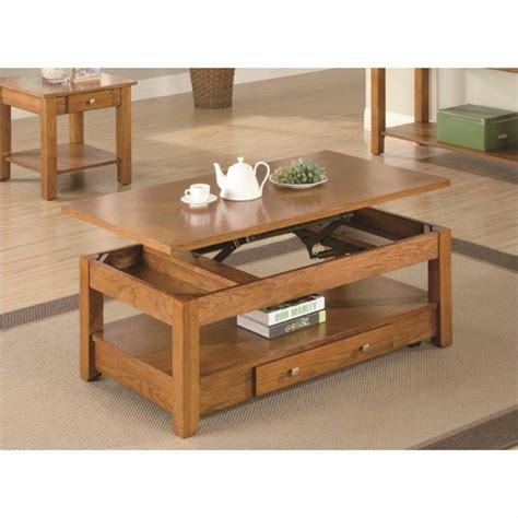 oak lift top coffee table coaster occasional lift top coffee table in oak 701438