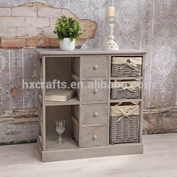 Nachttisch Vintage Grau by Shabby Chic Grey New Wicker Basket Sideboard Bar Cabinet