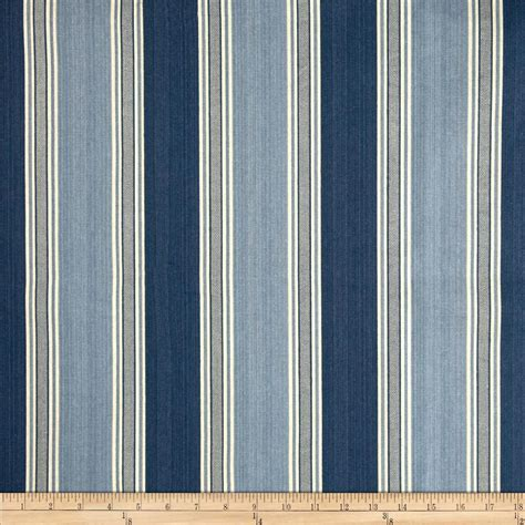 Blue Grey Upholstery Fabric Waverly Spotswood Stripe Porcelain Discount Designer