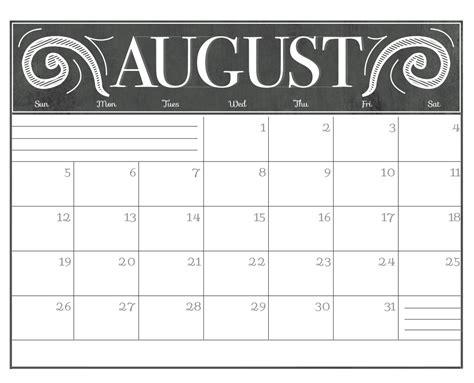 august 2018 calendar chalkboard free printable 2018 calendars calendar 2018