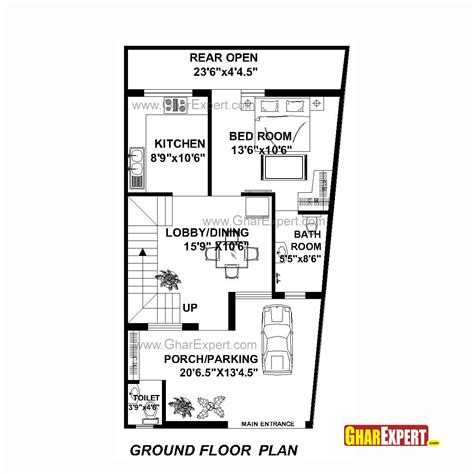 design expert half normal plot house plan for 22 feet by 42 feet plot plot size 103