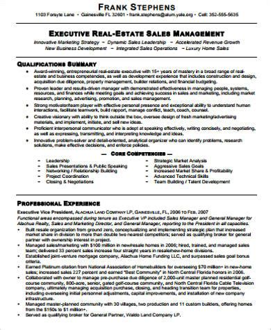 realtor resume sles sle real estate resume 9 exles in word pdf
