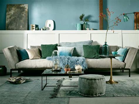 Idee Deco Salon Bleu by Le Bon Mix D 233 Co Vert Et Bleu Joli Place