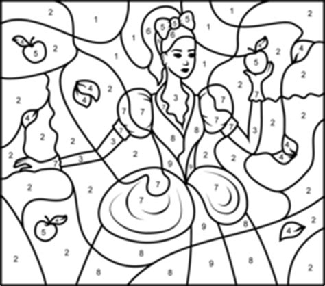 princess coloring pages by number princesses coloring pages