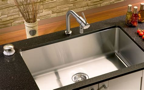 Sinks Undermount Kitchen Kitchen Sink Stainless Steel Single Well Undermount Sn Rs2318 Conceptbaths
