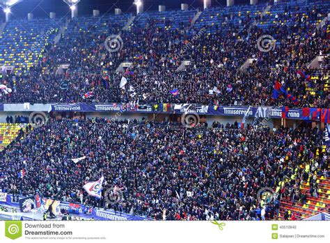 football hooligans  steaua bucharest editorial image
