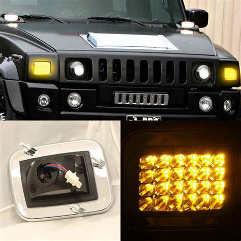 how to replace 2004 hummer h2 headlight bulb 03 09 hummer h2 led head corner parking lights set smoked