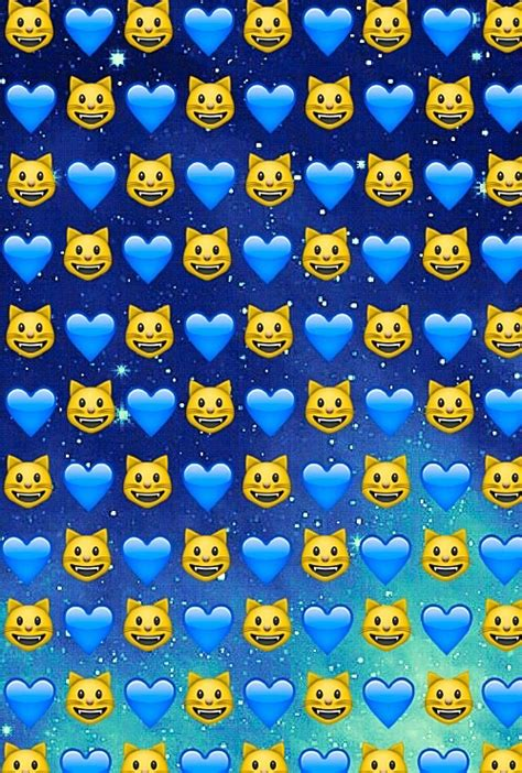 emoji wallpaper blue background cats emoji galaxy hearts space stars