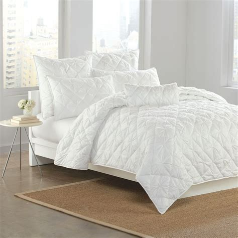 dkny coverlets quilts dkny diamond tuck quilt in white home bedding