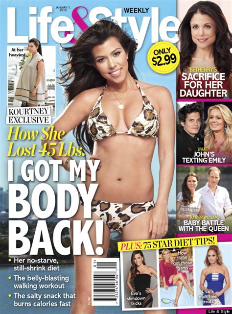Magazine Gain Weight by Kourtney S Weight Loss Reality Shed 45