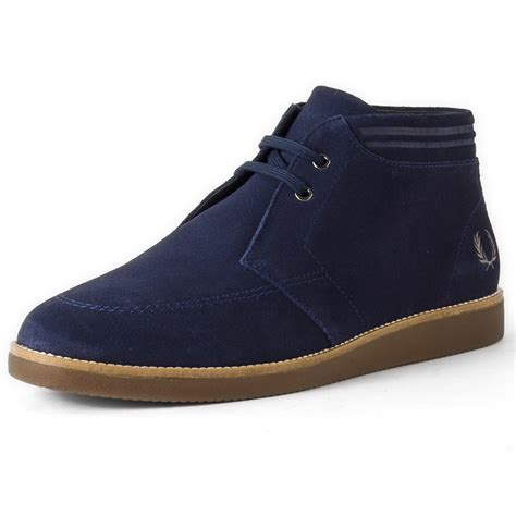 fred perry mens boots fred perry southall mens chukka boots in carbon blue
