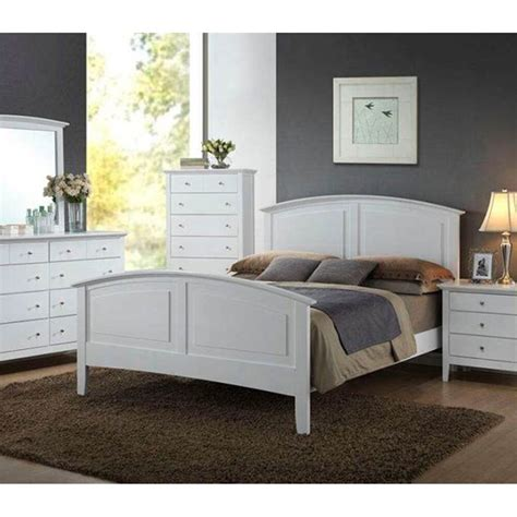 Ebay Bedroom Sets by Contemporary Whiskey White Finish 1pc Size Bed For