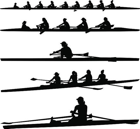 crew boat clipart rowing clip art vector images illustrations istock
